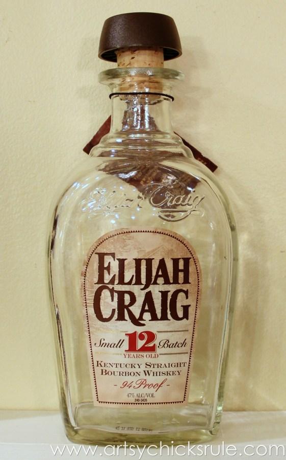Easy, DIY Chalk Painted Bottles - Oil Rubbed Bronze- Before 2 - artsychicksrule.com #thriftydecor #chalkpaint #oilrubbedbronze