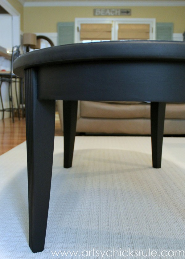 painted coffee table black - coffee addicts