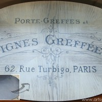 French Typography Table Makeover - Before and After Top- artsychicksrule.com #milkpaint #chalkpaint #french #typography