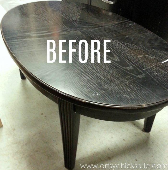 French Typography Table Makeover artsychicksrule.com