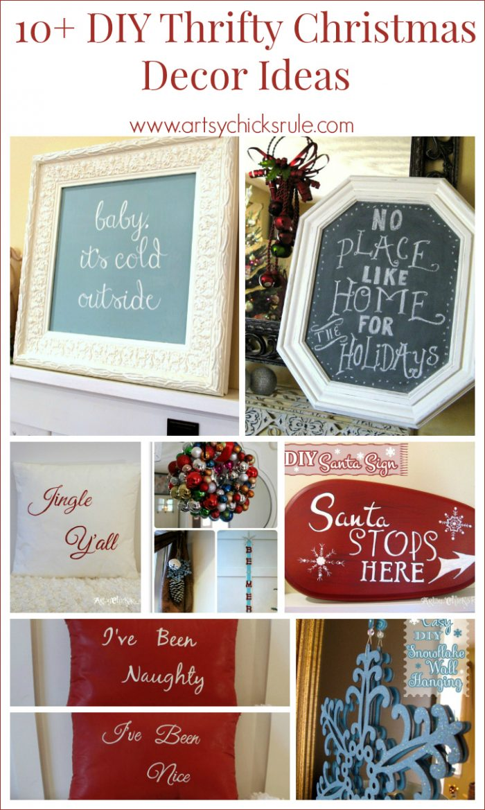10 diy thrifty christmas decor anyone can do artsy for Thrifty decor