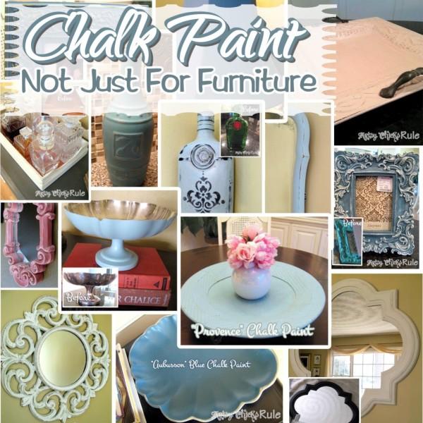 Annie Sloan Chalk Paint - It's Not Just For Furniture - #chalkpaint #bestof2014 #artsychicksrule artsychicksrule.com