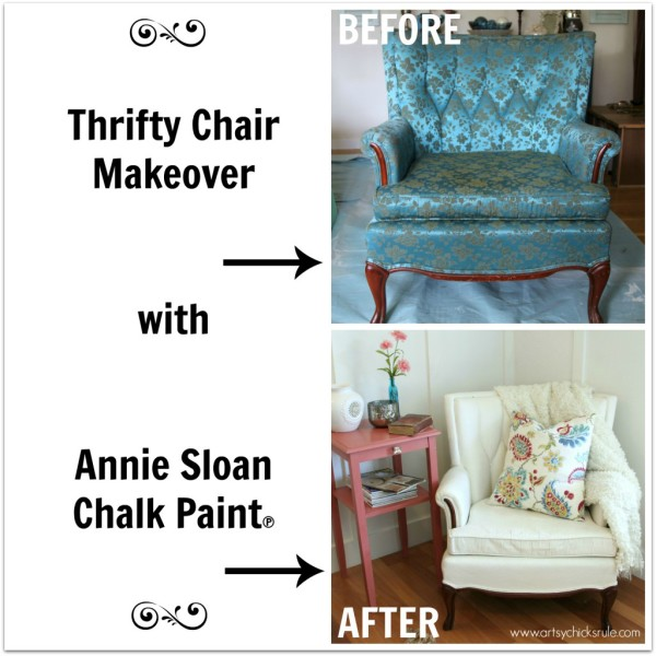 French Chair Makeover with Chalk Paint - #chalkpaint #bestof2014 #artsychicksrule artsychicksrule.com