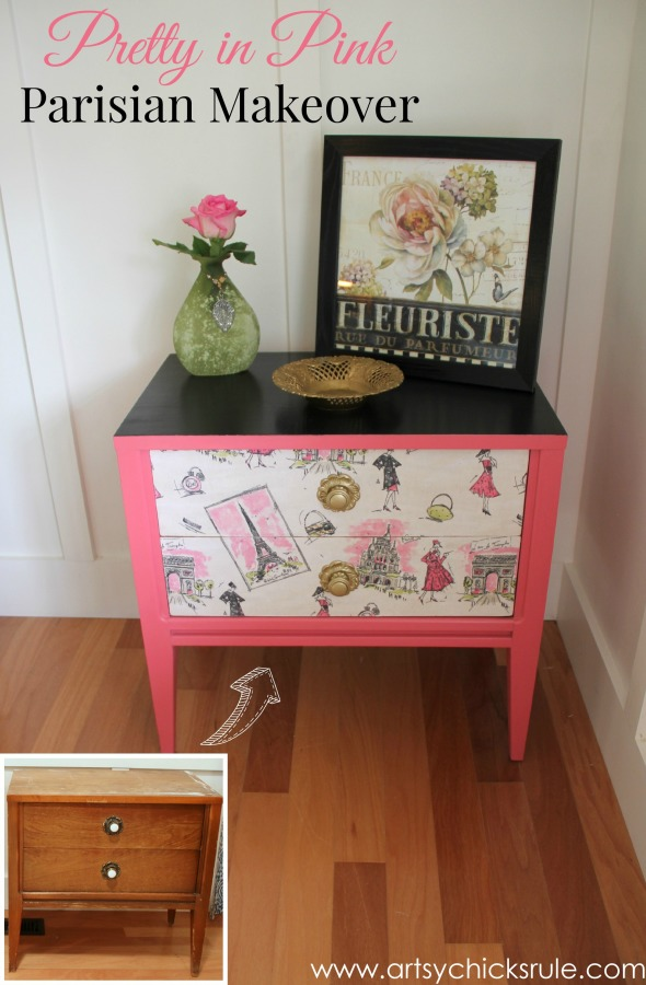 Pretty in Pink Parisian Makeover - pretty in pink -#chalkpaint #artsychicksrule