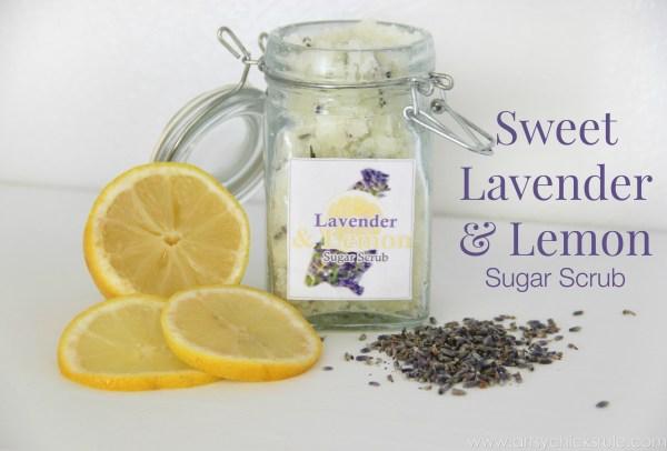 Simple DIY Sugar Scrub Recipes (you can do) - Sweet Lavender Lemon Scrub - #lavender #lemon #sugarscrub artsychicksrule.com