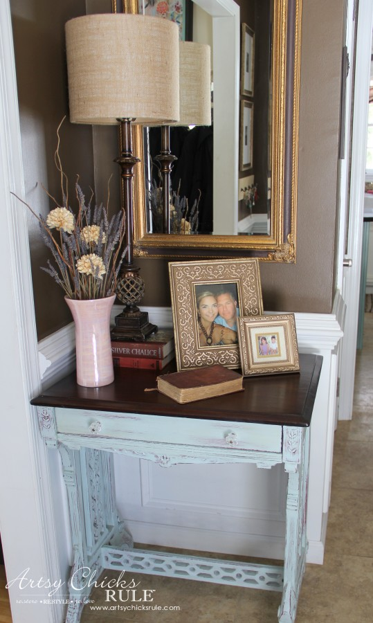 Decor Challenge - Shop Your Home - Part 2 - Foyer -#homedecor #thriftydecor