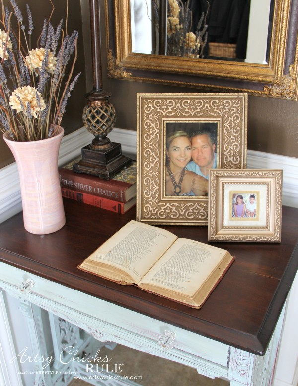 Decor Challenge - Shop Your Home - Part 2 - Up Close Book Open -#homedecor #thriftydecor
