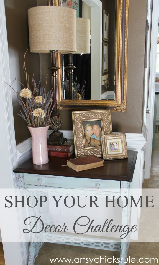 Decor Challenge - Shop Your Home - Part 2 - #homedecor #thriftydecor