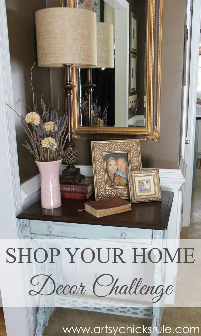 A Decorating Challenge Shop Your Home Foyer Part 2 Artsy Chicks Rule