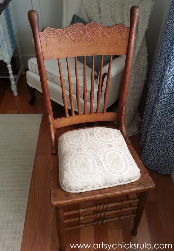 Press Back Chair Update with Java Gel Stain - Before Stain