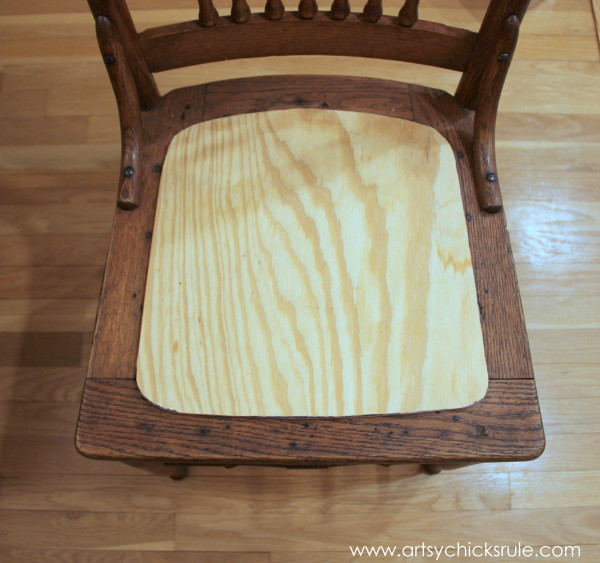 Press Back Chair Update with Java Gel Stain - Cut Form for seat
