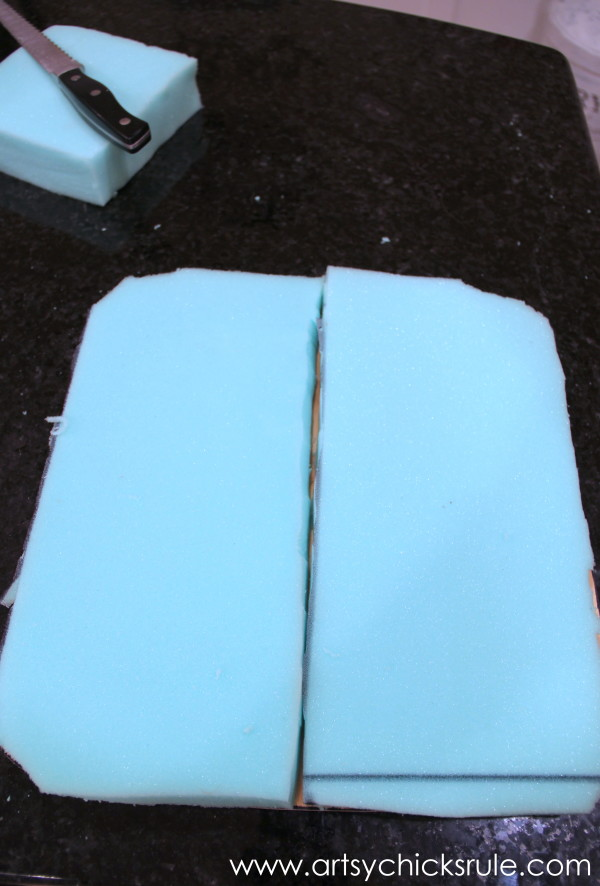 Press Back Chair Update with Java Gel Stain - Foam for seat