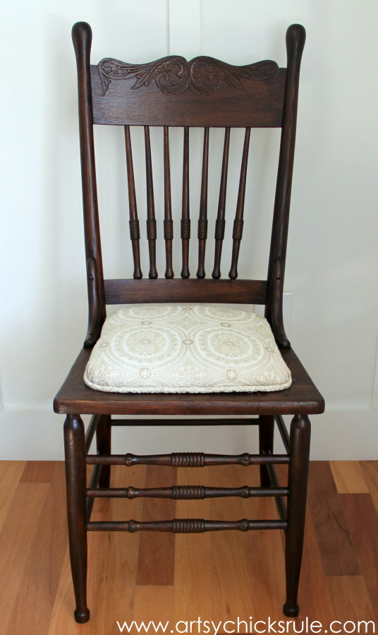 Press Back Chair Update with Java Gel Stain - General Finishes