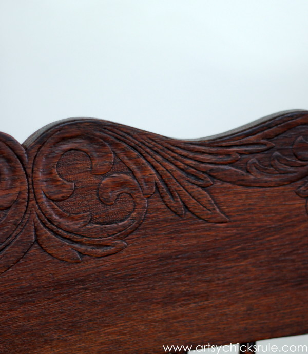 Press Back Chair Update with Java Gel Stain - Press Detail