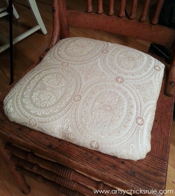 Press Back Chair Update with Java Gel Stain - Upholstered Seat