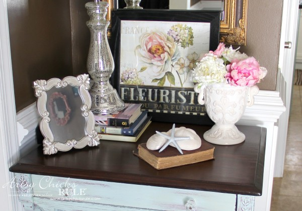 Decor Challenge - Shop Your Home Part 3 - French - #shopyourhome #homedecor #thriftydecor #thrifty artsychicksrule.com