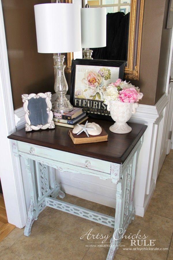 Decor Challenge - Shop Your Home Part 3 - Full Shot - #shopyourhome #homedecor #thriftydecor #thrifty artsychicksrule.com
