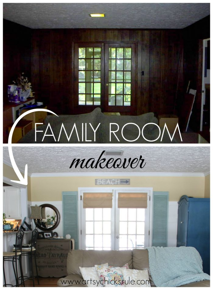 Family Room Makeover Before Amp After Artsy Chicks Rule 174