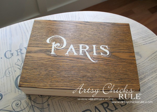 French Paris Box Makeover with Chalk Paint - First Makeover - #chalkpaint #purewhite #anniesloan #paris #french #frenchcountry artsychicksrule.com