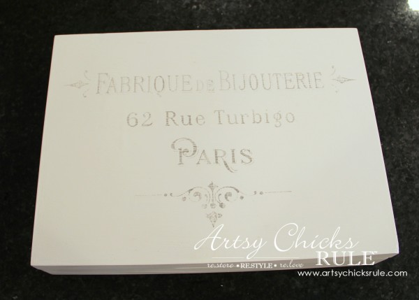 French Paris Box Makeover with Chalk Paint - Transferred - #chalkpaint #purewhite #anniesloan #paris #french #frenchcountry artsychicksrule.com