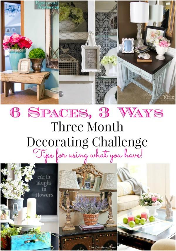 Month 3 of Decorating Challenge - Artsy Chicks Rule - Shop your home...great idea for a new look!!!
