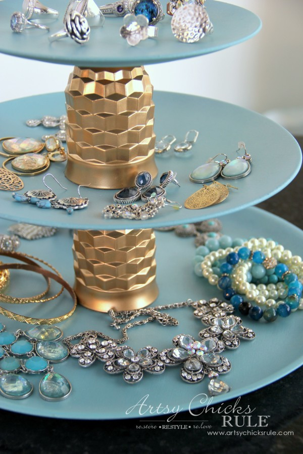 Thrifty Makeovers - Repurposed Thrifty Items turned Jewelry Tray - Artsy Chicks Rule