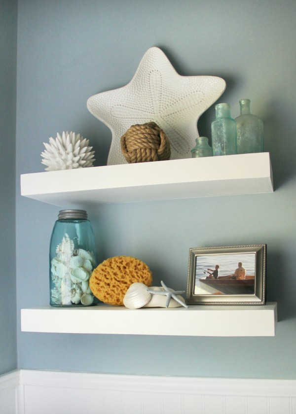 floating shelves with the home depot p g and a giveaway artsy chicks rule. Black Bedroom Furniture Sets. Home Design Ideas
