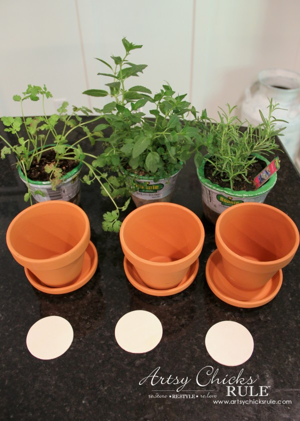 DIY Decorative Clay Pots for Herbs - Materials -artsychicksrule.com