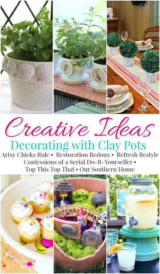 Decorating with Clay Pots artsychicksrule