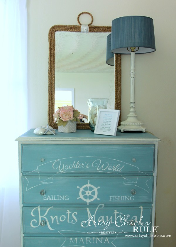 diy nautical rope mirror artsy chicks rule. Black Bedroom Furniture Sets. Home Design Ideas