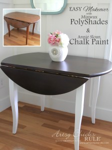 Update Wood Furniture With Minwax PolyShades and Chalk Paint - EASY DIY Makeover!! - artsychicksrule.com #polyshades #minwax #chalkpaint