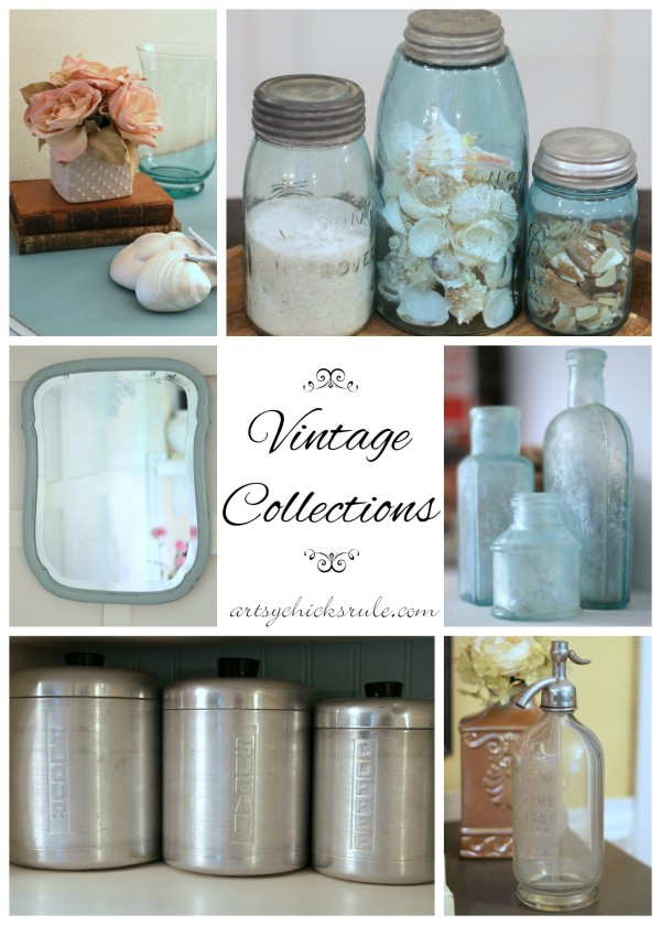 Vintage Collections - I LOVE collecting any and all antique, vintage, retro!!! - #vintage #collections #bluemasonjars #retro #antique artsychicksrule.com