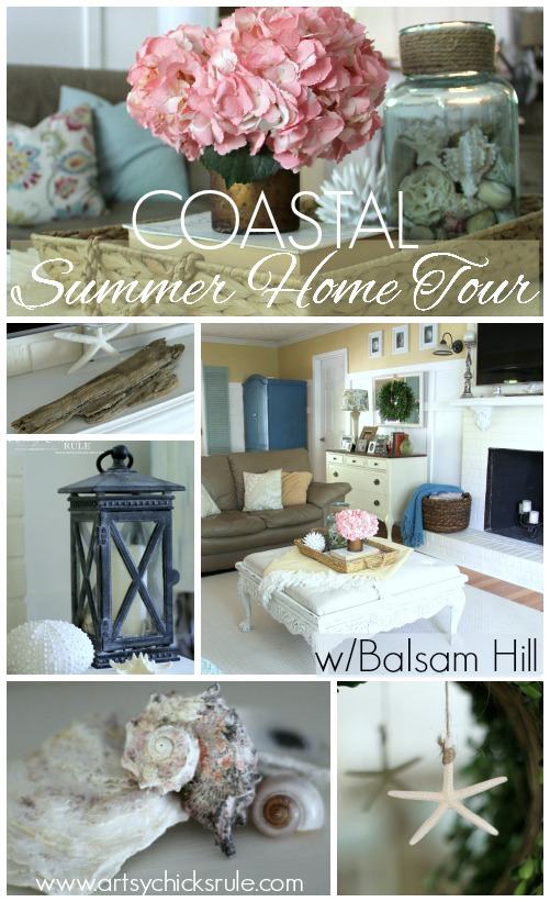 Coastal Summer Home Tour - with Balsam Hill - Coastal Decor - #nautical #coastal #homedecor #summerhometour artsychicksrule.com