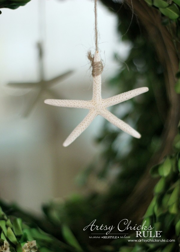 Coastal Summer Home Tour - with Balsam Hill - Starfish - #nautical #coastal #homedecor artsychicksrule.com