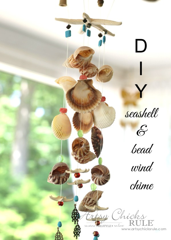 DIY Seashell Wind Chime - Seashells - #windchime artsychicksrule