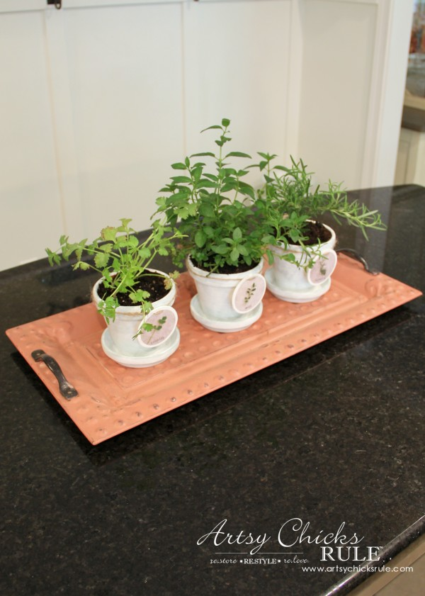 Decorating with Trays - Inspiration for using them in your home! - #herbplanters #homedecor artsychicksrule.com