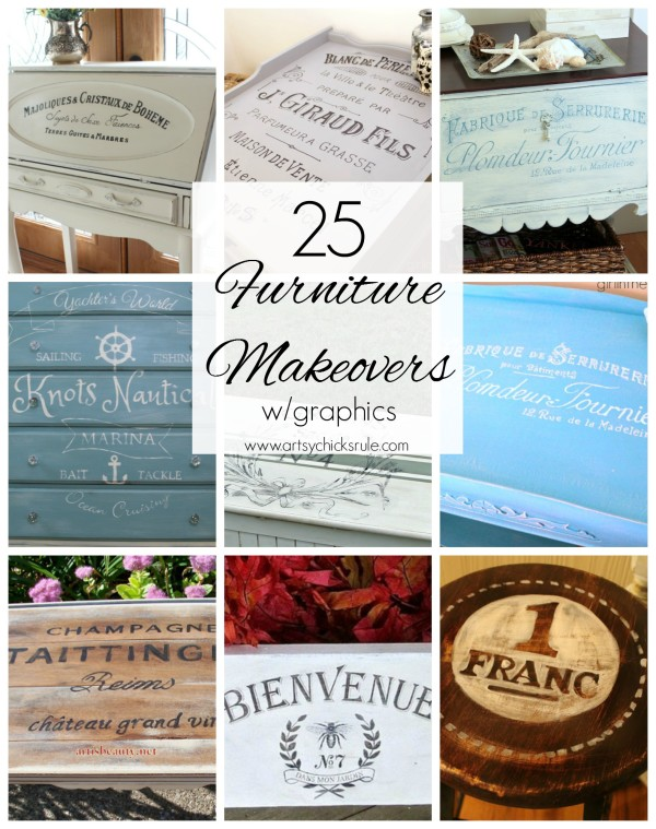 Furniture Makeover with Graphics  - #graphics #frenchgraphics #paint #makeover artsychicksrule