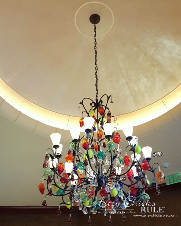 Haven Blogger's Conference 2015- Love this light at Southern Art - artsychicksrule
