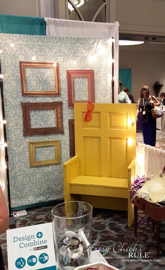 Haven Blogger's Conference 2015- Love this repurposed door - artsychicksrule