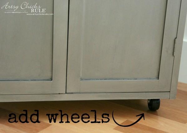 Industrial Cart Makeover - Added Wheels - $12 Thrift Store Find - artsychicksrule