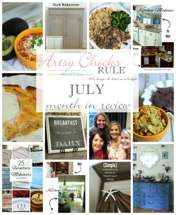 July Month in Review - from the Food blog too - artsychicksrule.com