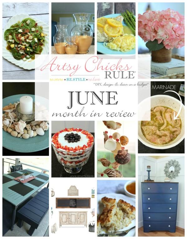 June's Month in Review - Food and DIY Blog - artsychicksrule.com