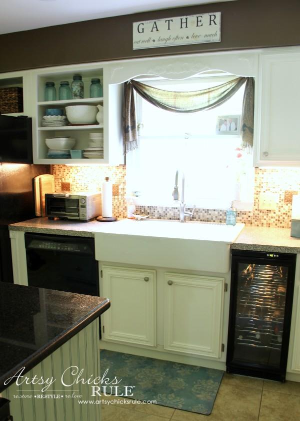 Kitchen Makeover - AFTER Farm Sink - #kitchen #Makeover artychicksrule