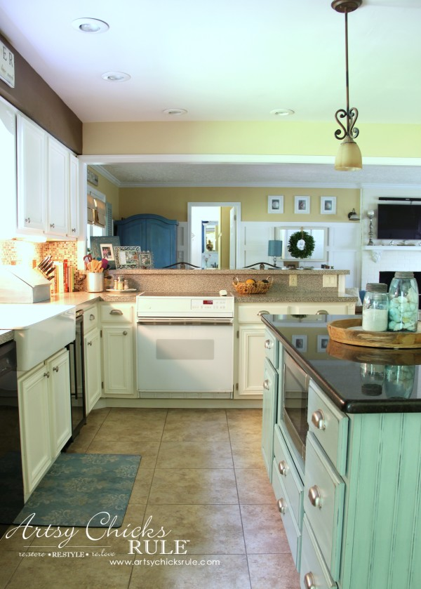 Kitchen Makeover - AFTER Open to Family - #kitchen #Makeover artychicksrule