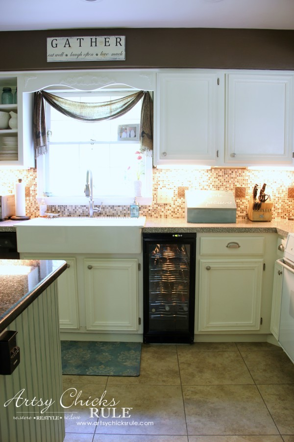 Kitchen Makeover - AFTER Sink - #kitchen #Makeover artychicksrule