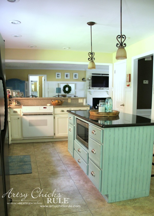 Kitchen Makeover - After Island Added - #kitchen #Makeover artychicksrule