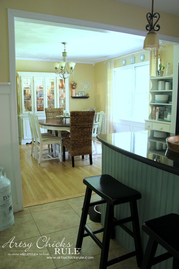 Kitchen Makeover - After Wall Removed to Dining - #kitchen #Makeover artychicksrule