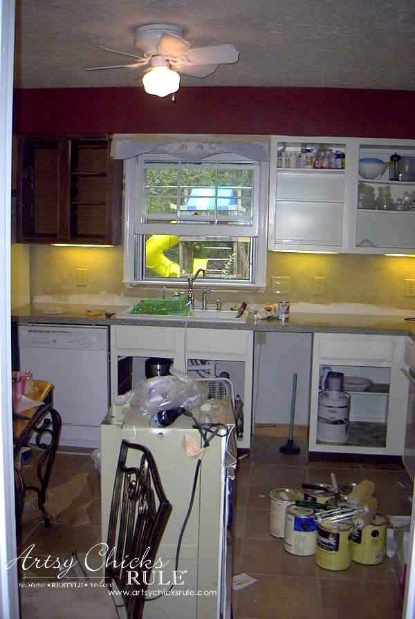 Kitchen-Makeover-Cabinets-and-Wall-Painted-first-time-kitchen-Makeover-artychicksrule