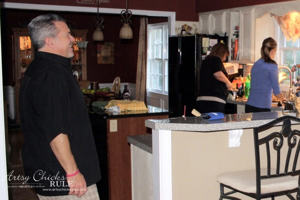 Kitchen Makeover - FIRST Makeover - #kitchen #Makeover artychicksrule