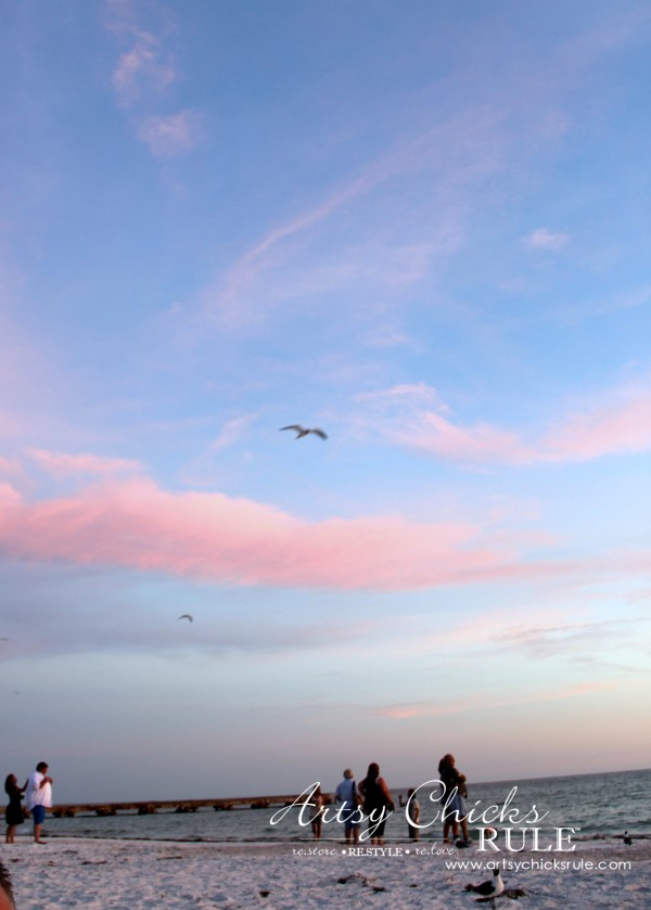 Anna Maria Island Florida Vacation - the sky just before sunset - artsychicksrule